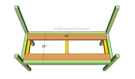 bench support how to build a garden bench myoutdoorplans free