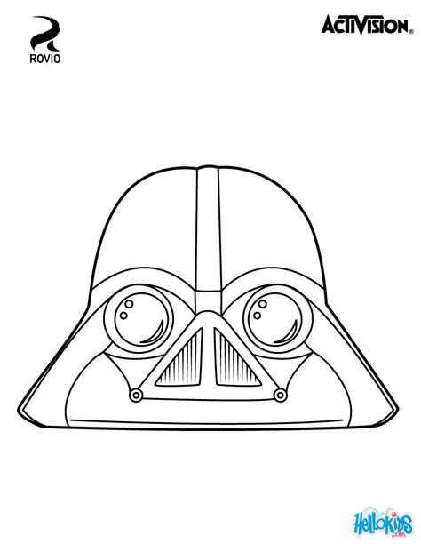 Vader Coloring Pages Hellokids Com Wars Angry Birds Coloring Pages