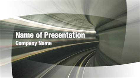 railway themes for powerpoint train tunnel powerpoint templates train tunnel