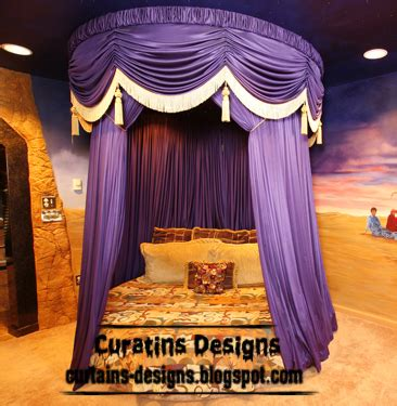 purple canopy bed curtains curtain designs