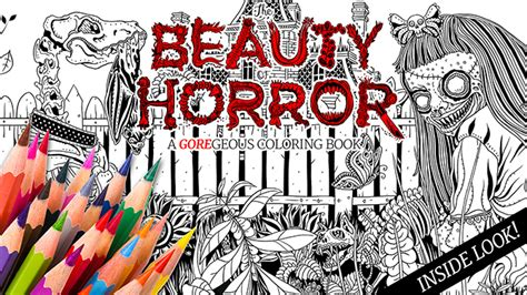 the of horror a goregeous coloring book take a creepy look inside quot the of horror a