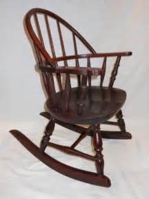 antique nichols rocking chair child s