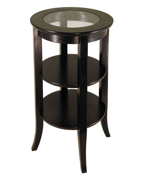 wood round accent side end table drawer shelf display small end table small side table perfect small end table