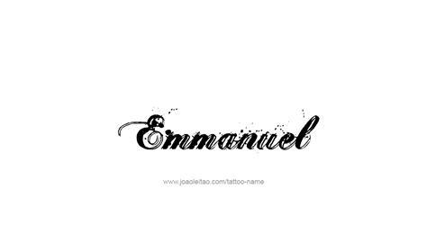 emmanuel name tattoo designs