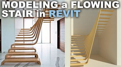 revit tutorial stairs modeling a flowing stair in revit tutorial youtube