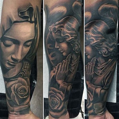 virgin mary with roses tattoo 194 parryz
