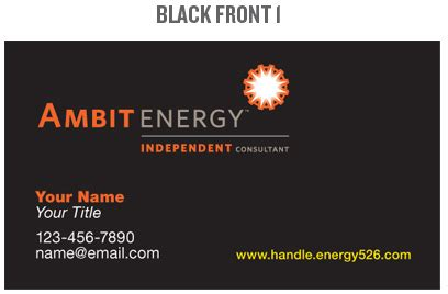 ambit energy business card template ambit energy business card template choice image