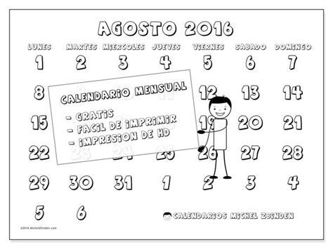 calendario rosea l septiembre 2016 para imprimir organizacion m 225 s de 25 ideas incre 237 bles sobre calendario agosto 2016 en