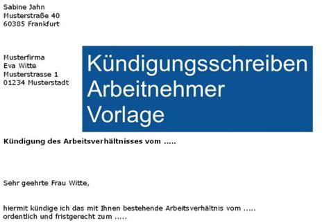 Vorlage Kündigung Arbeitsvertrag Durch Arbeitnehmer Word K 252 Ndigungsschreiben Arbeitnehmer Vorlage Freeware De