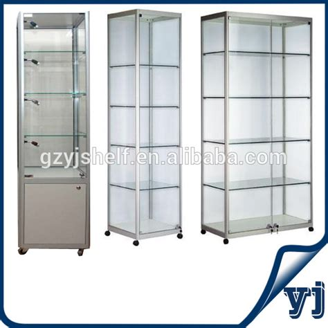 cheap glass display cabinets for sale high quality tempered toughened showcase display glass