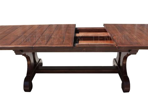 Plank Top Dining Table Axis Trestle Dining Table Handmade In Our Los Angeles Custom Wood Shop Mortise Tenon