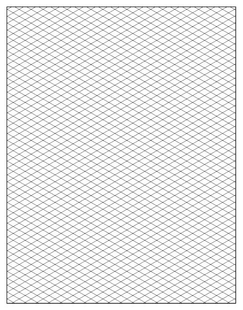 isometric drawing template free isometric graph paper to print