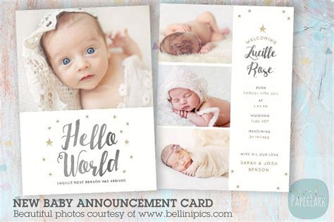 baby announcement cards free template 9 baby announcement templates free psd ai vector eps