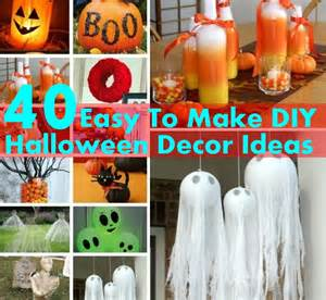 easy decorations to make at home 40 easy to make diy halloween decor ideas diy home things
