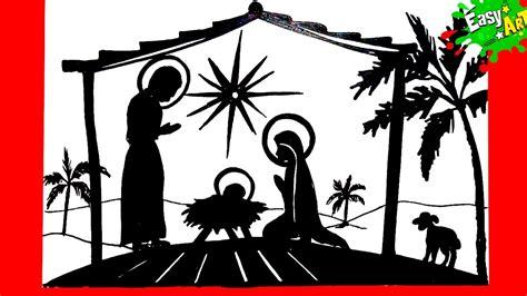 imagenes de siluetas del nacimiento de jesus christmas como dibujar el portal de belen como hacer un