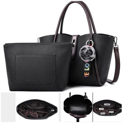 Tas Set 2in1 Import G2246 Tas Fashion Tas Paket 2 In 1 Impor Batam 123 jual b0608 black tas selempang pom pom 2in1 grosirimpor