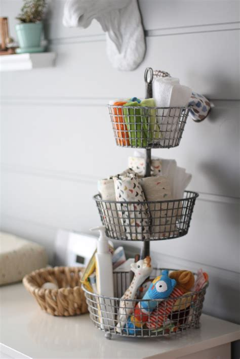 Tiered Bathroom Storage Nursery Organization Ideas Project Nursery