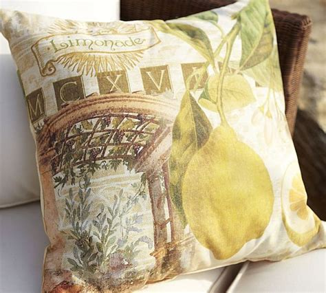 Decoupage For Outdoors - comfortable mediterranean fruit decoupage outdoor pillows