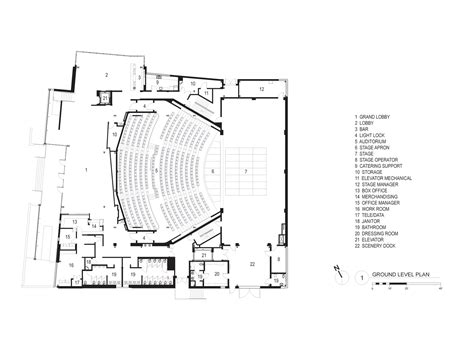 theater floor plan gallery of topfer theatre at zach andersson wise