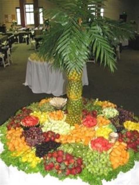 fresh fruit tree display wedding reception luau fruit tray displays easy id