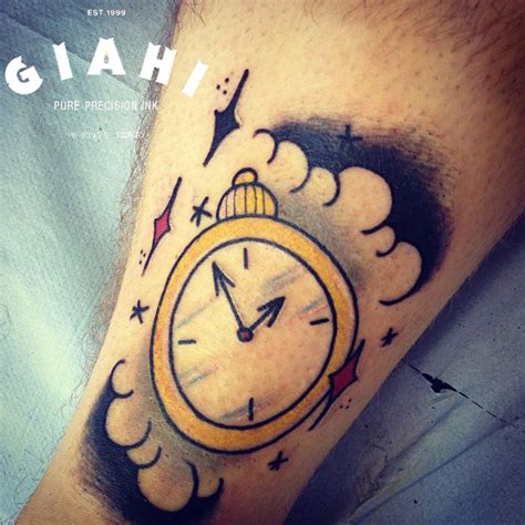 time clock tattoo designs arrows time clock by elda bernardes best