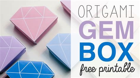 printable origami instructions box free printable origami crystal box tutorial paper kawaii
