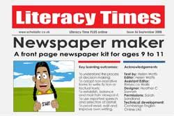 newspaper maker – free primary ks2 teaching resource