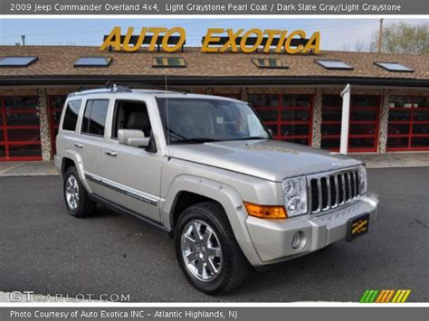 light gray jeep light graystone pearl coat 2009 jeep commander overland