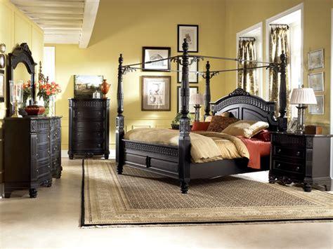 Black Poster Bedroom Set Glenmore Poster Bedroom Set Black Canopy Bedroom Sets