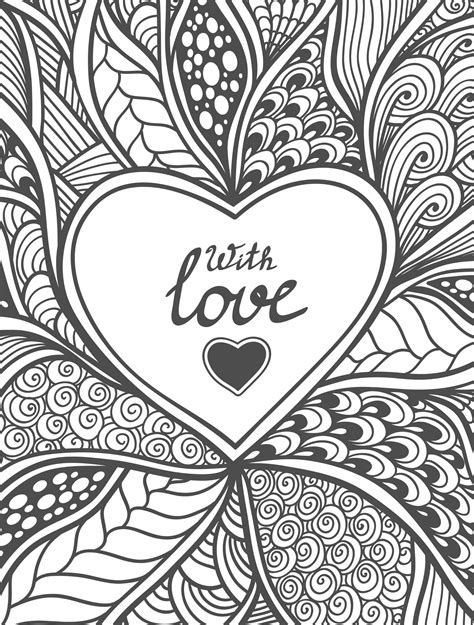 20 free printable valentines adult coloring pages adult