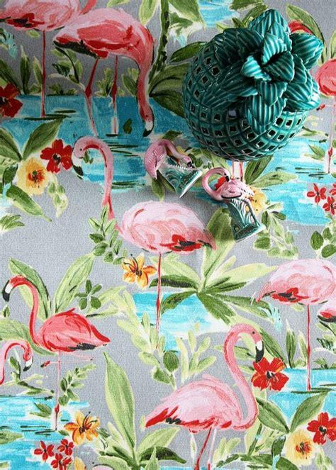 flamingo upholstery fabric pink flamingo sightings house of hawthornes