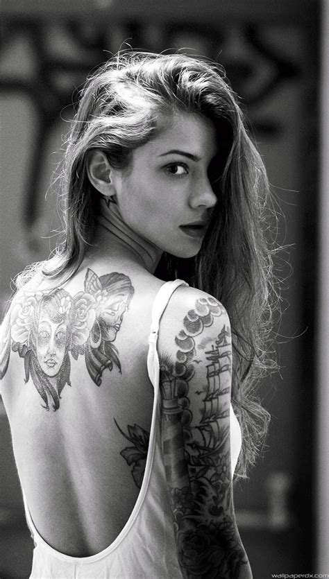 iphone 4s tattoo girl wallpaper beautiful girl tattooed back iphone 6 iphone 6 plus full