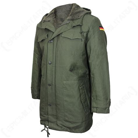 Parka Green Army List Parka Army Premium repro german army parka with removable liner olive green jacket all sizes ebay