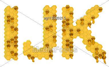 how is the letter j honey font i j k letters isolated white stock image 1291