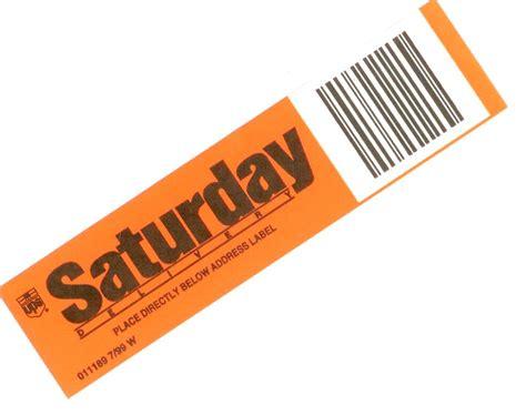 Saturday Delivery Sticker