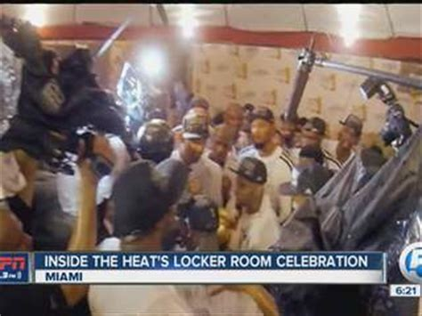 miami heat locker room espn 106 3 s emerson lotzia takes you inside the miami heat s locker room celebration wptv