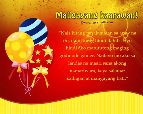Wedding Congratulations In Tagalog by Happy Birthday Messages In Tagalog Wordings And Messages