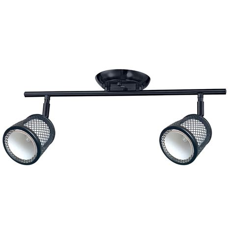 Black Track Lighting Fixtures Hton Bay Linear 3 Light Black Track Lighting Kit Ec400bk The Home Depot