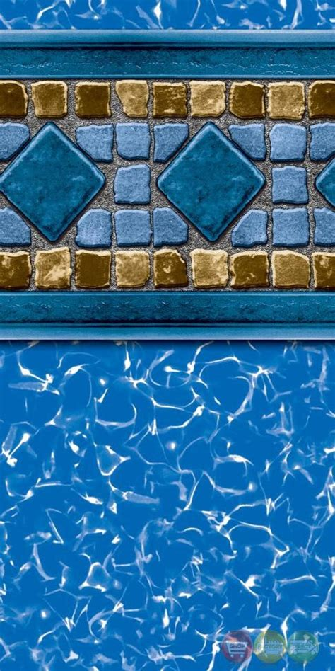 24 ft beaded pool liner for 52 in wall 15ft x 24ft oval lucia 20yr uni bead liner for 52in above