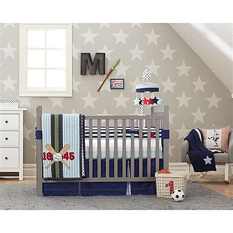 Vintage Baseball Crib Bedding Just Born 174 Vintage Sports Crib Bedding Collection Buybuy Baby