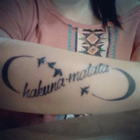 hakuna matata tattoo design 45 infinity ideas for amazing ideas
