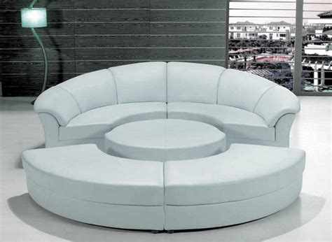 Stylish Sectional Sofas with Stylish White Leather Circular Sectional Sofa Modern Living Room Other Metro By Eurolux