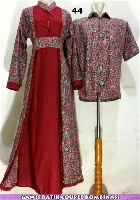 Murah Batik Sarimbit Pasangan Giska Broklat model baju batik pasangan modern terbaru