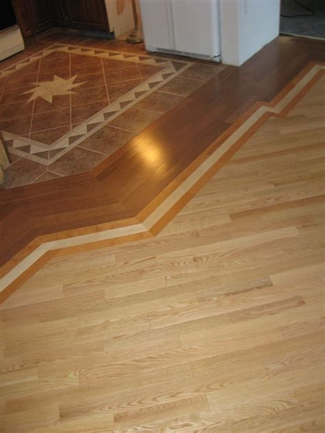 floor transitions between kitchen and tile google search flooring pinterest herringbone