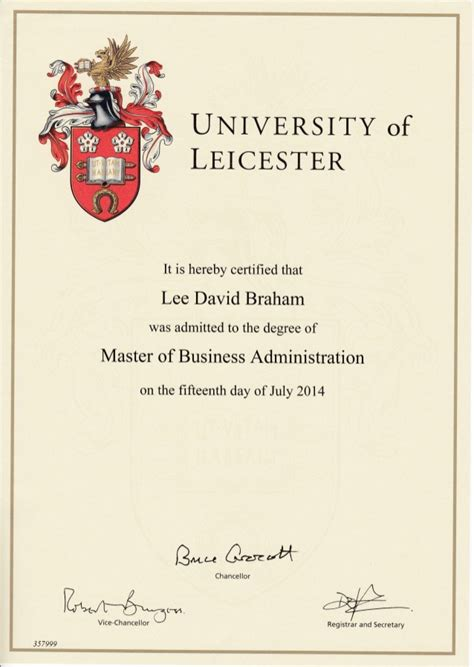 Certified Mba Number mba cert