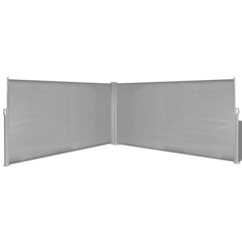 retractable side awning double retractable side awning in grey 160x600cm buy side awnings