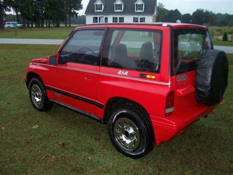 sidekick jeep 1992 geo tracker 4x4 sidekick suv jeep top towing