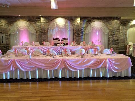 head table vintage blush pink quinceanera vintage quince