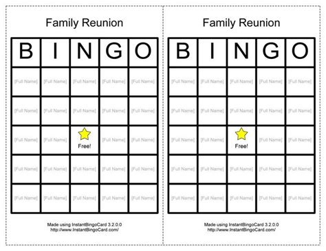 printable games about family reunion activities view document family reunion bingo