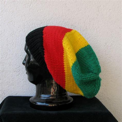 jamaican knit hats hat slouchy beanie rasta beanie chunky knit accessories